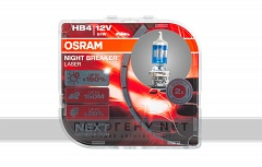 Галогенные лампы OSRAM HB4 9006NL Night Breaker Laser +150% (Duo Box)