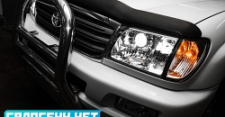 Toyota Land Cruiser 100 - установка биксеноновых линз Hella 3R в галогенный рефлектор, замена ламп