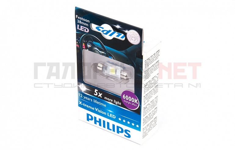 Philips LED C5W X-TremeVision 6000K 38mm (12859 6000KX1)